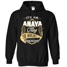 ANAYA - #student gift #couple gift. LIMITED TIME PRICE => https://www.sunfrog.com/Names/ANAYA-3543-Black-Hoodie.html?id=60505