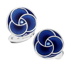 Blue Art Deco Cufflinks. More style news, suit reviews, tips & tricks and coupons at www.indochino-review.com #IndochinoReview