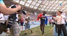 Teddy Tamgho, champion du monde du triple saut à Moscou 2013