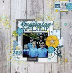 Capturing The Moment - Scrapbook.com                              Use stamps on background paper.
