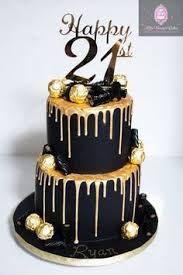 Image Result For 18th Birthday Cake For Men Gold Black And White