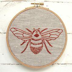 Bumblebee Embroidery Kit – Red Thread Studio