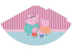 Chapéu de aniversário Rótulo água Peppa Pig
