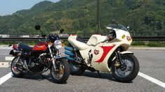 Honda Monkey Z50 (Z2 mini)  and  Yamaha YSR80 (KamenRider Cyclone mini)
