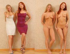 dressed undressed girls Blonde