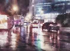 Lin Ching Che, watercolor