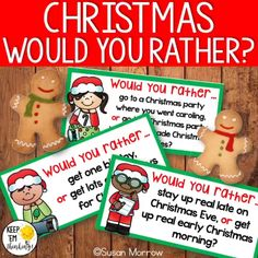 FREEBIE ALERT! Want to get your students turned on to writing? Kids love to talk about themselves and these FREE Christmas theme Would You Rather? writing prompts are just the thing to get your kiddos into opinion writing. The graphic organizers included help students organize their thoughts in the pre-writing process! These would make a great writing center, or morning writing prompts for students in second grade, third grade, and fourth grade. Christmas Writing Prompts, Writing Prompts For Kids, Cool Writing, Kids Writing, Opinion Writing, Pre Writing, Writing Process, Third Grade Writing, Second Grade