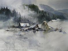 http://www.russianfineart.com/catalog/prod?productid=25055 Thaw - watercolors paper  Russian Artist Karpan Alexander