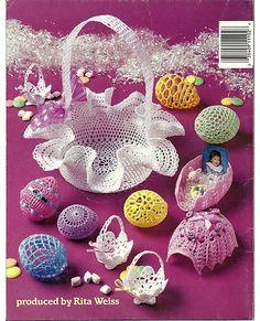 Thread Crochet Easter Eggs Crochet Pattern by grammysyarngarden