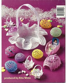 Thread Crochet Easter Eggs Crochet Pattern by grammysyarngarden