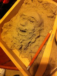 Sculpted by hand with crazy sand