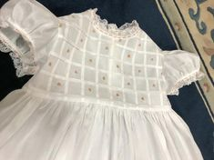 Your place to buy and sell all things handmade Girls White Dress, Little Girl Dresses, Girls Dresses, Tuck Dress, Vintage Baby Clothes, Baby Gown, Christening Gowns, Heirloom Sewing, Cute Outfits For Kids