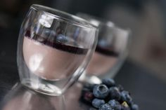 Learn how to make this vegan panna cotta made with a rich red bean pudding and blueberry sauce.