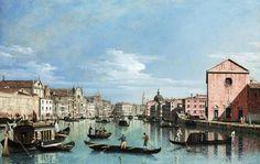 Bernardo Bellotto - Venice. Upper Reaches of the Grand Canal facing Santa Croce