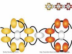 Flower Chain. Beading Cartoon FOR LEFTIES - YouTube