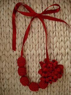 Sweet crochet necklace