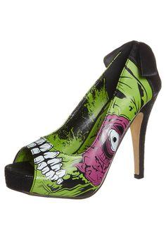 Mmmm...!Me gustan, pero demasiado locos!! ¿Qué os parecen?!!Iron Fist - ZPMBIE STOMPER - Zapatos altos - verde