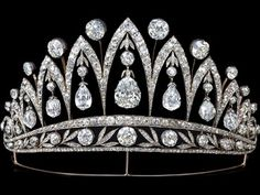 Fabergé created this diamond tiara around 1890. The stunning briolette diamonds were a gift from Tsar Alexander I to the Empress Josephine after her divorce from Napoleon Bonaparte. This piece is one of only a few tiaras ever made by Fabergé.