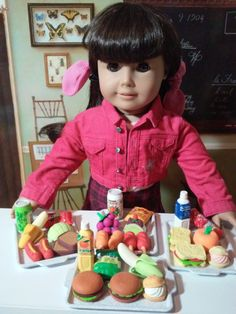School Lunch Erasers for American Girl Doll by JinjiaMixedGoods
