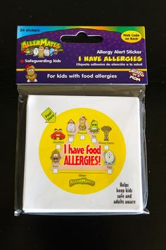 Food Allergy stickers - These are great for summer camps, weekend trips, field trips, or other times your child may be served food