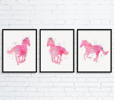 Equestrian Girl Art Girls Room Decor Watercolor by MiaoMiaoDesign