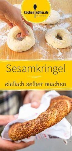 Einfaches Rezept für selbst gemachte türkische Sesamkringel.