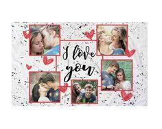 Federa Cuscino I love you collage