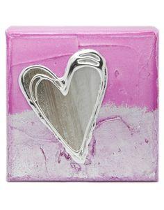 Pink Artbloxx 01 Silver Wall Art, Small Canvas, Art Uk, Contemporary Art, Zip Around Wallet, Pink, Contemporary Artwork, Pink Hair, Roses