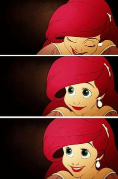 ariel. i always wanted her bangs, but as we all came to find out as we got older... Disney hair does not exist.