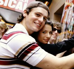 Jonathan Groff and Lea Michele. . . is that John Gallagher on the other side of Lea?