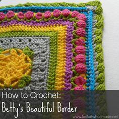 How to Crochet Bettys Beautiful Border How to Crochet:  Bettys Beautiful Border {Photo Tutorial}  ✿⊱╮Teresa Restegui http://www.pinterest.com/teretegui/✿⊱╮