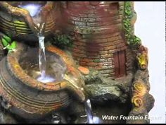 DIY How to make Table Top Waterfall from easy available material - JK Arts 399 - YouTube