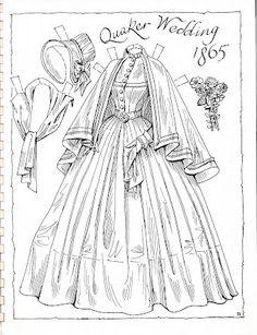 Victorian Brides Paper Dolls by Charles Ventura - Maria Varga - Picasa Web Albums Colouring Pages, Adult Coloring Pages, Coloring Books, Victorian Paper Dolls, Vintage Paper Dolls, Victorian Bride, Paper Dolls Printable, All Paper, Colored Paper