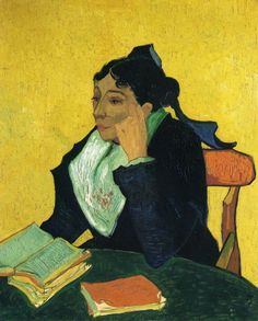 L'Arlesienne, Portrait of Madame Ginoux by Vincent van Gogh #art