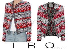 Crown Princess Mary wore IRO Kroe Jacquard Crop Jacket. www.newmyroyals.com