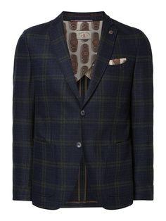 Bei ➧ P&C Anzug sakkos von CG-CLUB-OF-GENTS ✓ Jetzt CG-CLUB-OF-GENTS Slim Fit 2-Knopf-Sakko mit Stretch-Anteil 'Savile Row' in Blau / Türkis online kaufen ✓ 4061656