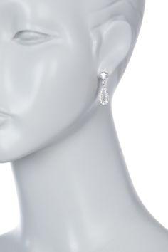 CZ Open Teardrop Earrings by NADRI on @nordstrom_rack