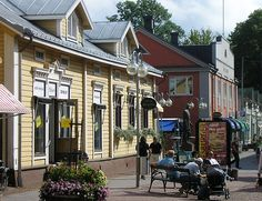 Wooden houses in Torggatan in the centre of Mariehamn, Åland, Finland. Beautiful Islands, Beautiful Places, Beautiful Pictures, Good Neighbor, Bucket List Destinations, Baltic Sea, Archipelago, Old Town, Finland