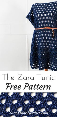 The Zara Tunic Pattern Is Perfect for Spring is part of Knitting and Crochet Patterns Website - The Zara Pullover is the perfect, dreamy piece to transition your wardrobe from Summer to Fall in a snap! You'll love how easily this piece works up! Pull Crochet, Mode Crochet, Crochet Shawl, Crochet Stitches, Knit Crochet, Crochet Tops, Crochet Sweaters, Crochet Summer, Crochet Baby