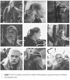 "16 Insightful Gems On ""Lord Of The Rings"" From The Cast- Legolas had a fantastic hair...the Daddy's hair..."