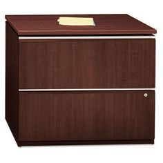 Milano2 Collection Two-Drawer Lateral File, Harvest Cherry, Sold as 1 Each
