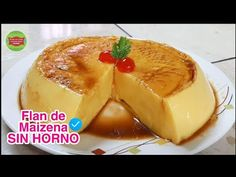 Flan de Maizena SIN HORNO / Postre de Maizena fácil /Cocina con Jenny - YouTube Spanish Desserts, Something Sweet, Tofu, Mexican Food Recipes, Mousse, Cake Recipes, Cheesecake, Deserts, Make It Yourself