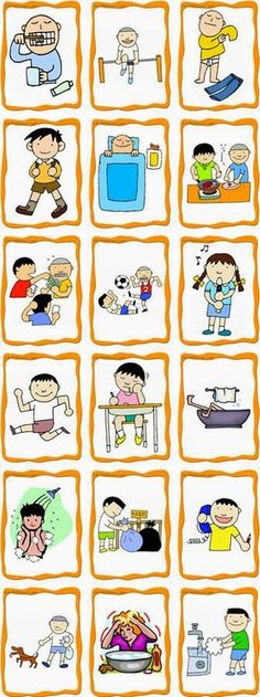 Tons of free ESL/ELD flashcards! The clip art would also be useful for regular language arts vocabulary lessons. Tons of free ESL/ELD flashcards! The clip art would also be useful for regular language arts vocabulary lessons. English Activities, Language Activities, Daily Activities, Teaching French, Teaching Spanish, Teaching English, Learn Spanish, Speech Language Therapy, Speech And Language