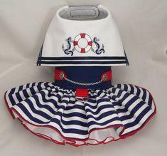 Vestido de perro. Náutico marinero marítima Original por poshdog