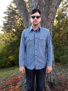 Vintage Men's 1970s Sears Chambray Shirt by ClassAndTrashVintage, $24.00