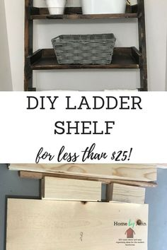 DIY your own small bathroom storage solution.  Build an over the toilet shelf.  This is a perfect beginner diy project for your small bathroom. #diy #smallbathroom #organizing #organizingideas #diyrustic #farmhouse #smallbathroomorganization #overthetoiletstorage #bathroomstorage #woodworking #beginnerproject