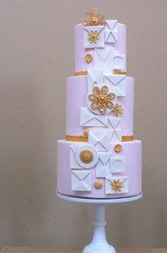 modern love letters cake