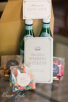 Welcome box from Vimage Studios with his, hers, and our favorite candies and water. | Carretto Studios