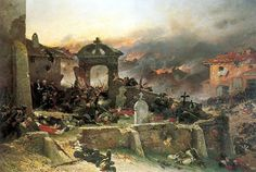Battle at the cemetery of Saint-Privat, 18 August 1870 - Alphonse de Neuville