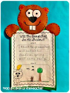 A Cupcake for the Teacher: Groundhog Display and Freebie